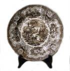 Старинная английская тарелка Монголы