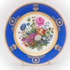 Старинная тарелка Букет с голландским тюльпаном Завод Попова