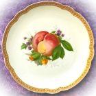 Антикварная настенная тарелка с фруктами Розенталь Персик и лесной орех