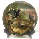 Коллекционная настенная немецкая тарелка Дикие птицы