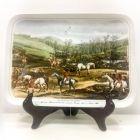 Немецкая настенная тарелка Английская охота