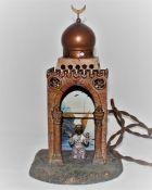 Лампа Молящийся мусульманин Венская бронза