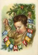 Новогодняя открытка - 1959. Худ. Гундобин