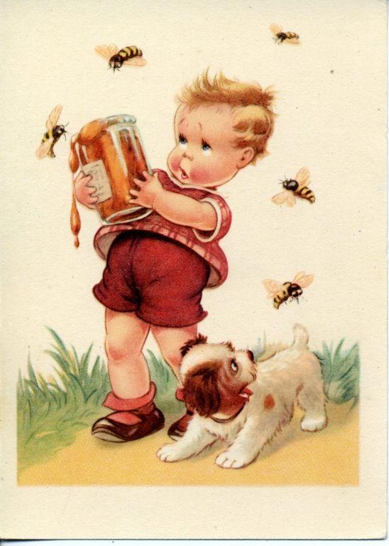 Старинные открытки с детками 37
